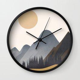 Minimalistic Landscape VI Wall Clock