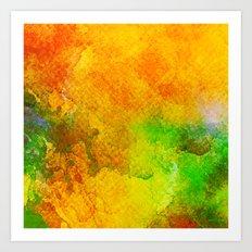 Orange Orchard Art Print