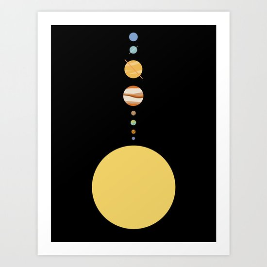 Minimal Solar System Art Print