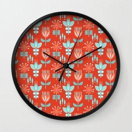 Whirlygig Floral Wall Clock