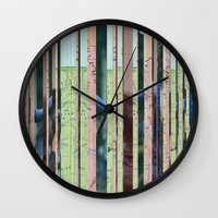 oregon Wall Clocks featuring Oregon Oregon by Milo Violet