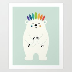 Be Brave Polar Art Print