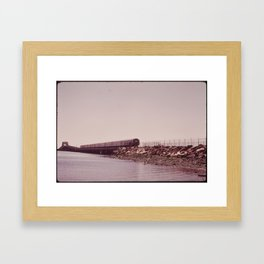NEW YORK SUBWAY IS ABOVE GROUND WHEN IT CROSSES JAMAICA BAY AREA Framed Art Print