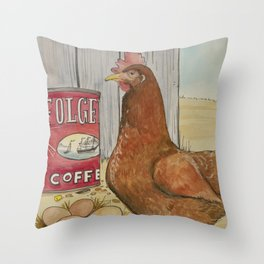 Red Henny Throw Pillow