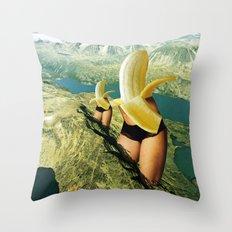 Norwegische Bananenwanderung Throw Pillow