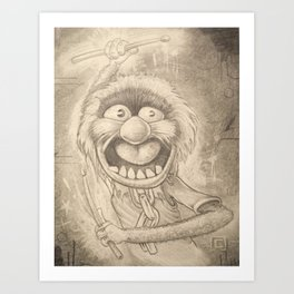 Animal in Pencil Art Print