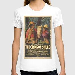 The crimson skull movie poster (1921) T-shirt
