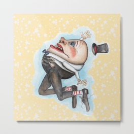 Humpty Dumpty on yellow with stars  Metal Print