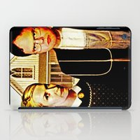 dwight schrute iPad Cases featuring Dwight Schrute & Angela Martin (The Office: American Gothic) by Silvio Ledbetter