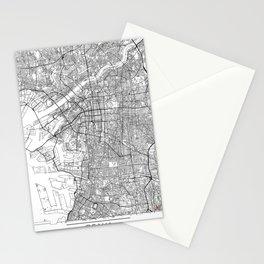 Osaka Map White Stationery Cards