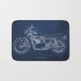 1969 triumph bonneville classic vintage motorcycle christmas gift Bath Mat