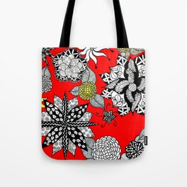 Pattern in Red  Tote Bag