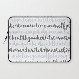 Friendly Study Reminders and Tips Laptop Sleeve
