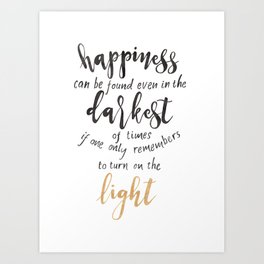 Dumbledore Quote | Happiness can be found... | Watercolor Art Print