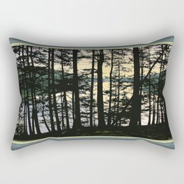 EARLY WINTER DUSK AT MOUNTAIN LAKE ON ORCAS ISLAND Rectangular Pillow