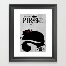 The Black Pirate Framed Art Print