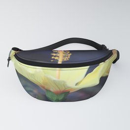Sun searching Chinese Hibiscus Flower Fanny Pack