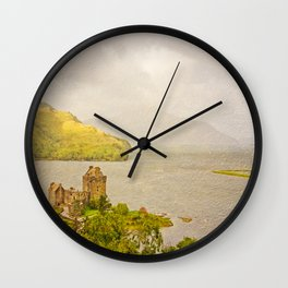 Eilean Donan Textured Wall Clock