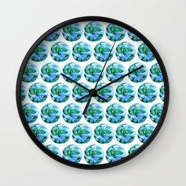 Earth Drawing Wall Clock