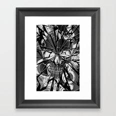 broken skull  Framed Art Print