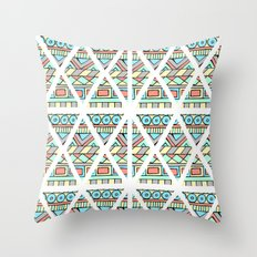 Aztec shapes Throw Pillow