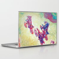 helen Laptop & iPad Skins featuring Glen Helen Motocross 2008 by Scott Dickson