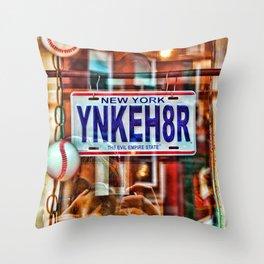 Yankee Hater Throw Pillow