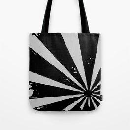 Black Sunburst Tote Bag