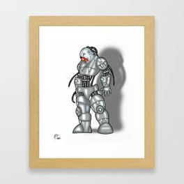 Robot Series - Clown Model Framed Art Print