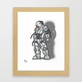 Robot Series - Clown Model Framed Art Print