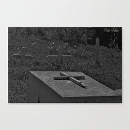 Graves black and white Canvas Print