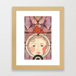 Bright, Beefy Red #2 Framed Art Print