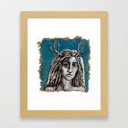 Wood Shaman Framed Art Print