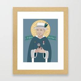 In Gord We Trust (Gord Downie Portrait) Framed Art Print