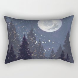 Full Moon Landscape Rectangular Pillow