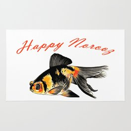 Happy Norooz Demekin Goldfish Persian New Year Rug