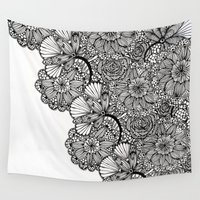 alisa burke Wall Tapestries featuring lace inspired by Alisa Burke