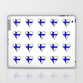 Flag of Finland 4 -finnish, Suomi, Sami,Finn,Helsinki,Tampere Laptop & iPad Skin