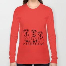 Three Dalmatians Dogs Long Sleeve T-shirt