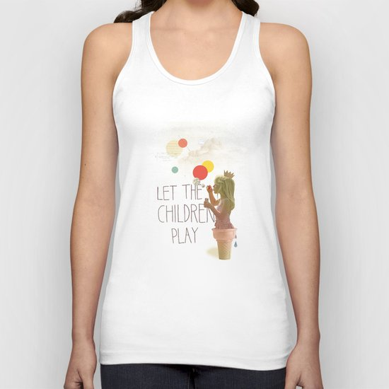 Let the children play Unisex Tank Top
