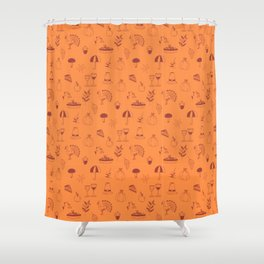 Happy thanksgiving day pattern Shower Curtain