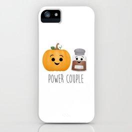 Pumpkin + Spice = Power Couple iPhone Case