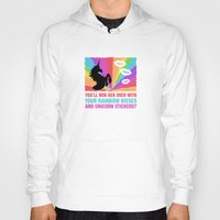 stickers Hoodies featuring Regina Sassy Mills | Rainbow kisses and unicorn stickers by CLM Design