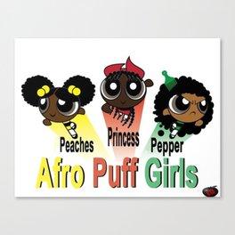 AfroPuff Girls Canvas Print