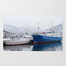 Boats in Tromso Rug
