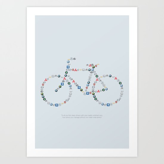 Free the bike lanes! Art Print