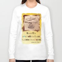 da vinci Long Sleeve T-shirts featuring Da Vinci Helicopter by Anarchasm