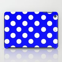 polka iPad Cases featuring Polka Dots (White/Blue) by 10813 Apparel
