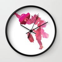 ponyo Wall Clocks featuring Ponyo and Sosuke in Pink by foreverwars