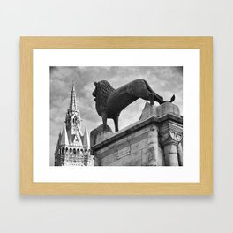 The Brunswick Lion and Town Hall Framed Art Print